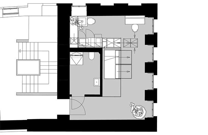 1er-Apartment Grundriss Variante 3